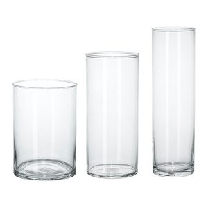 IKEA イケア 花瓶 3点セット クリアガラス d60175214 CYLINDER|clair-kobe