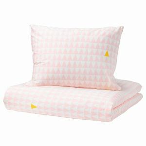 IKEA イケア 掛け布団カバー&枕カバー ライトピンク シングル  E00358669 STILLSAMT|clair-kobe