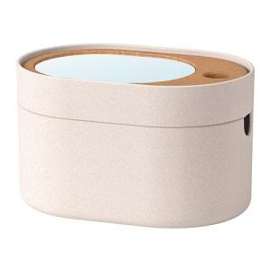 IKEA イケア 収納ボックス ミラーのふた付き プラスチック コルク n00394016 SAXBORGA|clair-kobe