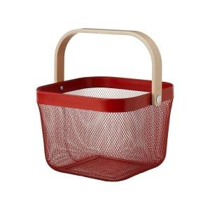 IKEA イケア バスケット レッド n00410813 RISATORP|clair-kobe