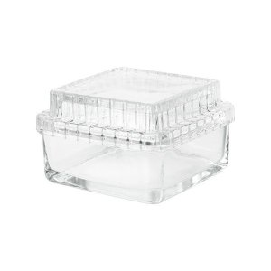 IKEA イケア ガラスのボックス ふた付き ガラス サイズ 13x13x8 cm n00412138 SAMMANHANG|clair-kobe