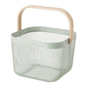IKEA イケア バスケット ライトグリーン n10443714 RISATORP|clair-kobe