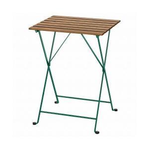 IKEA イケア テーブル 屋外用 ダークグリーン ライトブラウンステイン 55x54cm n304...