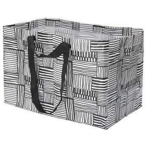 IKEA イケア キャリーバッグ L ホワイト ブラック n70429282 FISSLA|clair-kobe