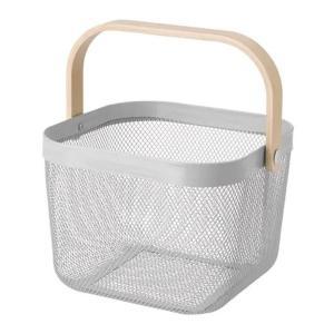 IKEA イケア バスケット グレー n80443715 RISATORP|clair-kobe