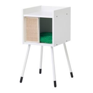 IKEA イケア キャットハウス 脚/クッション付き ホワイト グリーン z09240185 LURVIG|clair-kobe
