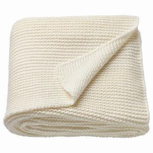 IKEA イケア ひざ掛け ブランケット オフホワイト z10352271 INGABRITTA|clair-kobe