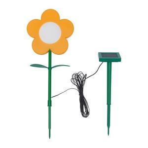 IKEA イケア LED太陽電池式グラウンドスティックライト 屋外用 フラワー イエロー z10422033 SOLVINDEN|clair-kobe