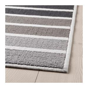IKEA イケア ラグ カーペット パイル短 グレー マルチカラー z20391470 LUMSAS|clair-kobe