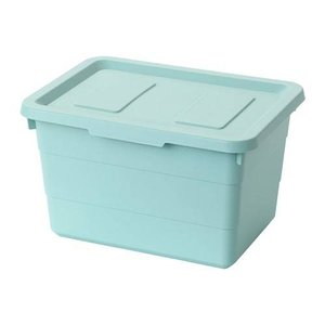 IKEA イケア 収納ボックス ふた付き ライトブルー z20402015 SOCKERBIT ソッケルビート|clair-kobe