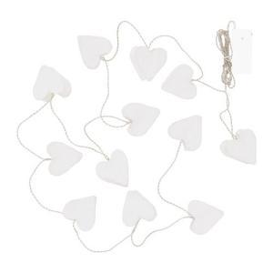 IKEA イケア LEDライトチェーン 全14球 電池式 ハート ホワイト クリスマス z20409187 STRALA|clair-kobe
