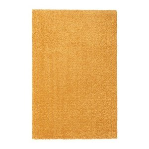 IKEA イケア ラグ カーペット パイル短 イエロー z20423942 LANGSTED|clair-kobe