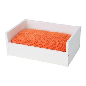 IKEA イケア ペットのベッド クッション付き ホワイト オレンジ z29240231 LURVIG|clair-kobe
