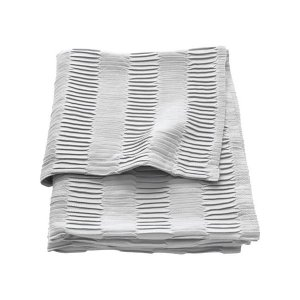 IKEA イケア ひざ掛け ブランケット ライトグレー z30373098 VAGMALLA|clair-kobe