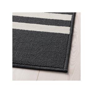IKEA イケア ラグ カーペット パイル短 ブラック マルチカラー z30391479 SKELDE|clair-kobe