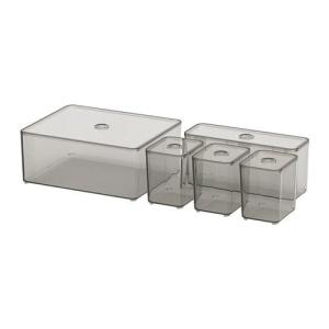 IKEA イケア ふた付きボックス5点セット z30400271 GODMORGON clair-kobe