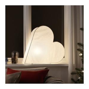 IKEA イケア テーブルランプ ハート ホワイト 50cm クリスマス z30406640 STRALA|clair-kobe