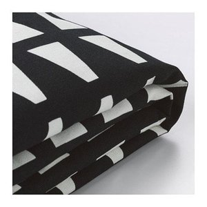 IKEA イケア 2人掛け ソファーベッドカバー エッバルプ ブラック/ホワイト z40324583 LYCKSELE|clair-kobe