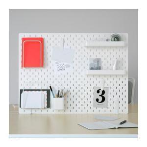 IKEA イケア ペグボードコンビネーション ホワイト z49217376 SKADIS スコーディス|clair-kobe