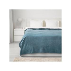 IKEA イケア ベッドカバー ライトブルー 250cmx230cm z50384053 TRATTVIVA|clair-kobe