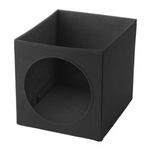 IKEA イケア キャットハウス ブラック z60376552 LURVIG|clair-kobe