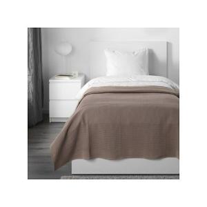 IKEA イケア ベッドカバー ライトブラウン 250cmx150cm z60389074 INDI...