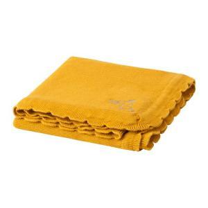 IKEA イケア 毛布 ダークイエロー z60421253 SOLGUL|clair-kobe