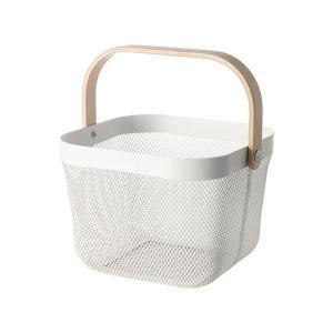 IKEA イケア バスケット ホワイト z70281619 RISATORP|clair-kobe