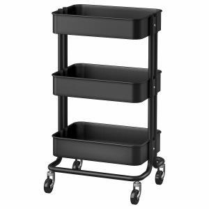 IKEA イケア キッチンワゴン ブラック z70333977 RASKOG ロースコグ