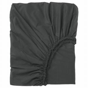 IKEA イケア ボックスシーツ ブラック シングル z80357227 DVALA|clair-kobe
