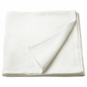 IKEA イケア ベッドカバー ホワイト 250cmx230cm z90396247 INDIRA|clair-kobe