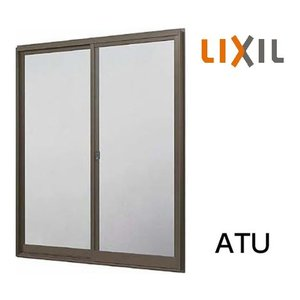 LIXIL トステム 窓サッシ 引き違い窓 ATU CTシリーズ 単体サッシ 内付型 2枚建 単板ガラス 呼称 11905 W:1235mm × H:570mm|clair