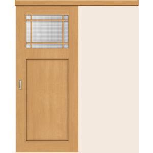 片引戸 標準タイプ アウトセット方式 表示錠付  チェッカー熱処理ガラス WAK-CFS ウッディーライン リクシル 1620J / 1820J|clair