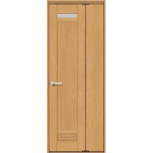 機能付きドア 中折れ標準ドア 錠無し ノンケーシング枠 / ケーシング枠 カスミガラス WTNH-CKP ウッディーライン リクシル 0720|clair