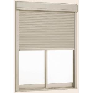 デュオPG シャッター付引違い窓 2枚建て 保証 半外付型 一般複層ガラス仕様 標準タイプ 電動 16018 W:1 TOSTEM 830mm 640mm LIXIL H:1 ハイクオリティ リクシル トステム ×
