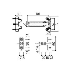 【YKK AP メンテナンス部品】 ドアガード (HH-5K-18448) HH-4K-13837の代替品|clair