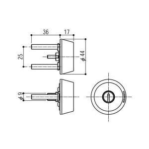 YKK 完売 AP メンテナンス部品 HH-4K-15992 交換用シリンダー ショップ