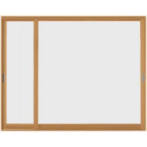 インプラスウッド 引き違い窓 変則2枚建て 和紙調格子入り複層ガラス W:1 501〜2 000mm × リクシル お気にいる TOSTEM 400mm 001〜1 LIXIL 卸直営 H:1 トステム