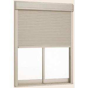 サーモスII-H シャッター付引違い窓 2枚建 一般複層ガラス仕様 標準タイプ 男女兼用 スマート電動 11909 × トステム リクシル 別倉庫からの配送 235mm H:970mm W:1