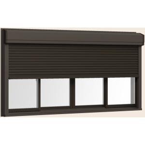 サーモスII-H シャッター付引違い窓 4枚建て 半外付型 LOW-E複層ガラス仕様 標準タイプ 手動 リクシル × 170mm H:1 600mm 256114 W:2 人気海外一番 送料込