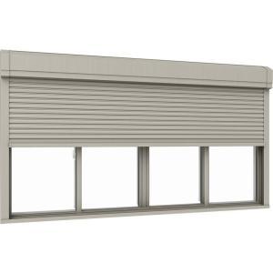 サーモスL シャッター付引違い窓 4枚建て 半外付型 一般複層ガラス仕様 標準タイプ 手動 370mm W:2 感謝価格 600mm × リクシル ふるさと割 H:1 256134