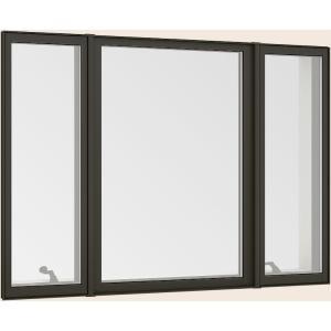 サーモスL 縦すべり出し窓 + Fix窓 内押縁 オペレーター 至上 Low-E複層ガラス アルミスペーサー × TOSTEM W:1 LIXIL 限定価格セール 640mm 370mm H:1 16013