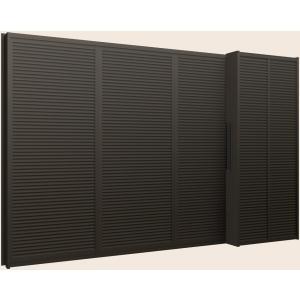 デュオPG 35%OFF 雨戸付サッシ 半外付型 4枚建て 雨戸3枚 鏡板付 一般複層ガラス仕様 281134 W:2 850mm トステム LIXIL 数量限定アウトレット最安価格 H:1 リクシル 370mm × TOSTEM