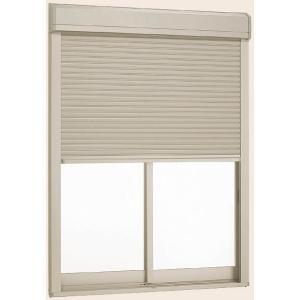 デュオPG シャッター付引違い窓 品質保証 2枚建て 外付型 LOW-E複層ガラス仕様 標準タイプ 手動 18118 W:1 送料0円 LIXIL 802mm 810mm トステム × リクシル H:1 TOSTEM