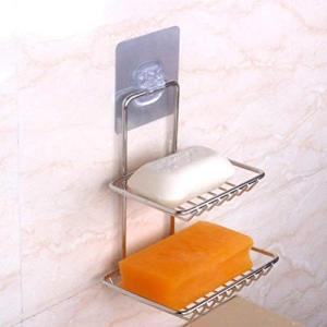 石鹸 置き ソープホルダー ソープディッシュ ソープトレー 2段|clairdelune9126