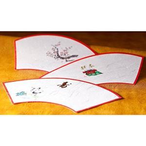 山下工芸(Yamasita craft) 日本製 新春扇面懐紙 梅 100枚 54020010|clairdelune9126
