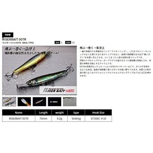 JACKALL(ジャッカル) ミノー ライザーベイト 007R 70mm 8.2g RISERマットタイガー|clairdelune9126