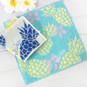 ハワイ ハンドタオル パフアロハ タオル パイナップル 雑貨 可愛い プチギフト|clara-hawaii