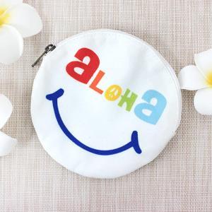 ポーチ 小物入れ ハワイ 雑貨 Kahiko ハワイアン ポーチ 白 ホワイト 可愛い サーフボード スマイル|clara-hawaii