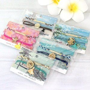 静電気防止 ブレスレット ゴム アクセサリー 雑貨 Kahiko ノンパチ セットブレスレット おしゃれ 可愛い プチギフト|clara-hawaii